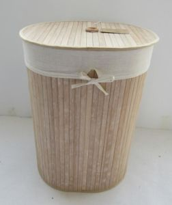 Bamboo Laundry Hamper Basket Dirty Clothes Storage Bedroom