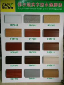 Wood Grain Decorative PVC Plastic Flooring Wall Skirting Board pictures & photos