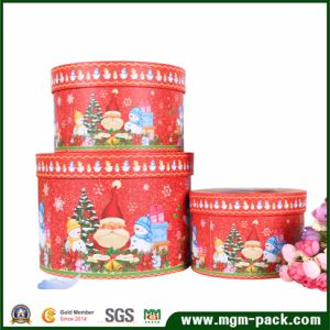 Decorative Christmas Round Paper Gift Box