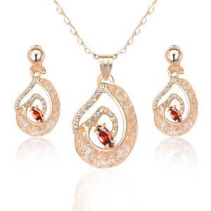 9b6ce0eb0ba 2017 Wholesale Fashion Jewellery Ruby Gemstone African Gold Necklace Jewelry  Set