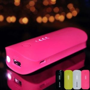 5600 mAh USB External Backup Charger Power Bank with LED Torch