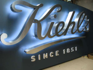 Business Halo Backlit Led Sign Letters Channel Waterproof Stainless Steel Signs Logos