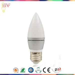 Solar C37 LED Glass Candle Factort Daylight E14/E12 Bulb 4W pictures & photos