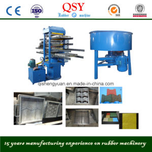 Rubber Tile Plate Vulcanizing Press/Rubber Vulcanizer 50t 550*550*4 pictures & photos