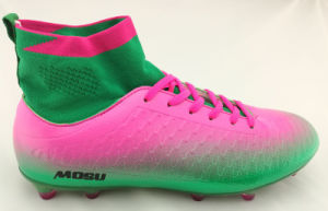 Best Quality Flyknit Sock Football Shoe with Special Transparent TPU Sole pictures & photos