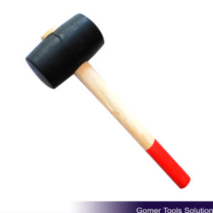 Rubber Mallet with Wooden Handle (T05040)