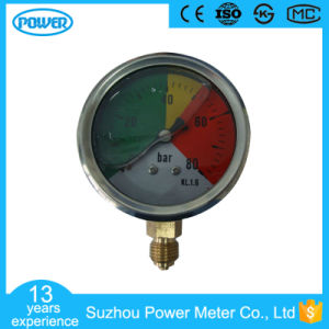 63mm Half Stainless Steel Non-Isometric Scale Liquid Filled Pressure Gauge pictures & photos