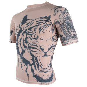 Mens Short Sublimated Tattoo Rash Guard AMD12 pictures & photos