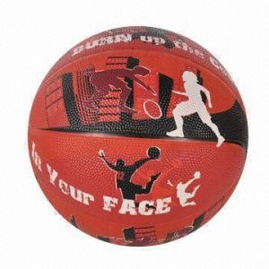 Red Color Rubber Basketball