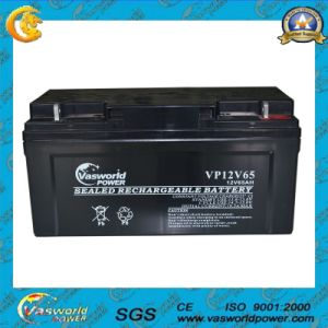 AGM 12V65ah Rechargeable Sealed Lead Acid Battery pictures & photos