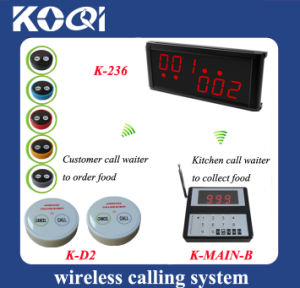 CE Approved 433.92MHz Kitchen Call Waiter System for Queuing pictures & photos