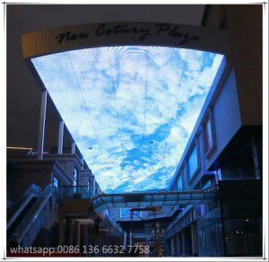 Sky Background Ceiling Mount Advertising P25 LED Screen