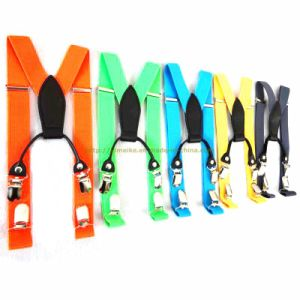 Solid Color 4 Clips PU Suspenders for Children (SAC111802) pictures & photos