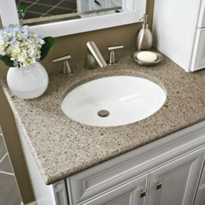 Custom Sizes Artificial Stone Bathroom Vanity Tops pictures & photos