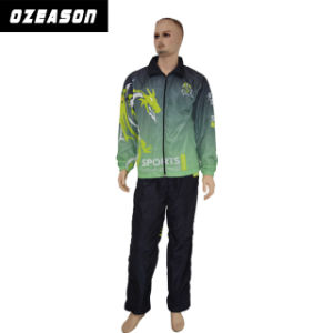 Customized Polyester Men / Women Training Color Printing Tracksuit (TJ019) pictures & photos