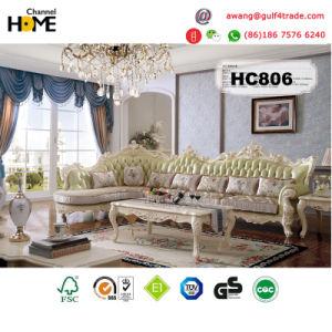 China European Antique Furniture L Shape Wood Sofa Hc806 China