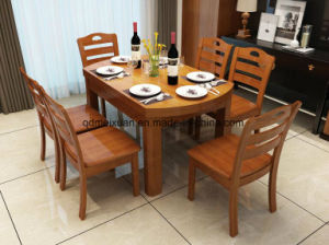 Solid Wooden Dining Table Living Room Furniture (M-X2433) pictures & photos