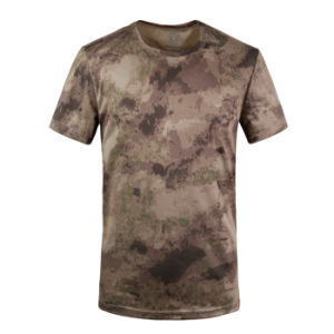 Round Neck Short Sleeve Camouflage Quick-Drying Mesh T-Shirt pictures & photos