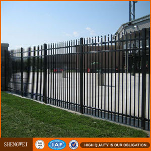 Powder Coated Residential Steel Pipe Fence Panels pictures & photos