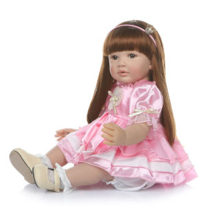 Children Toys Reborn Dolls 24 Inch Real Life Size Reborn Toddlers Dolls with Blonde Hair Princess Girls Xmas Gifts Toys