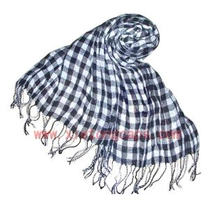 Viscose Scarf With Fringes (JRI025) pictures & photos
