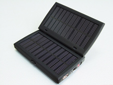 Solar Charger for Mobile Phone,MP3,MP4,DC 2.2800mah Li-Polymer Battery 3.1.54w Solar Panel 4.4.5v/5v/6.3v/9v Output