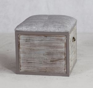 Wooden Storage Ottoman With High Quality