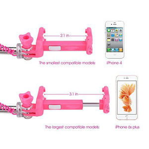 Extendable Mini Monopod Phone Selfie Stick with 3.5mm Wire Connecting for iPhone pictures & photos