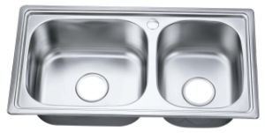Stainless Steel Double Sink (S7640FX)