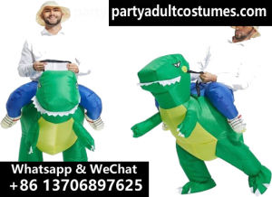 lyjenny cheap dinosaur rider inflatable raptor costume jurassic world inflatable costume wholesale manufacturer for halloween christmas
