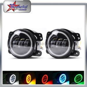 RGB Fog Lights 4 Inch LED Rear Fog Light With Bluetooth Control Angle Eyes  Halo Fog