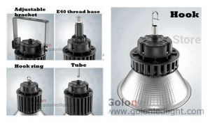 25 60 100 Degree Aluminum Reflector EU Us Au UK LED Industrial High Bay Light with Plug pictures & photos