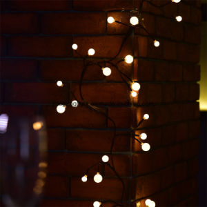 2.5m72LEDs Black Rattan String Light with 8 Function Modes LED String Light