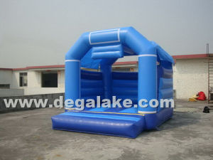 Blue Color Inflatable Mini Bouncy House Customized