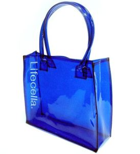 OEM Durable Eco-Friendly PVC Tote Shopping Bag with Logo