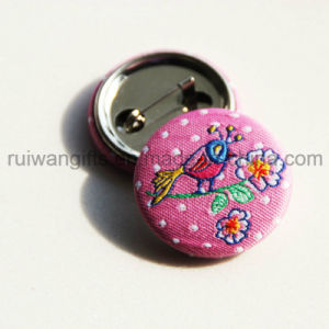 Embroidery Button Pin Badge for Promotion, Embroidery Button Badge pictures & photos