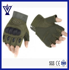 Military Protected Combat Fingerless Army Gloves (SYSG-243) pictures & photos