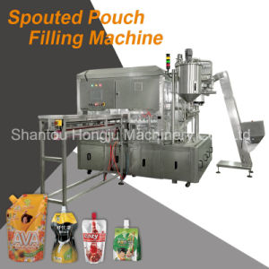 Spouted Pouch Beverage Filling Machine for Water Liquid