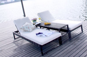 Leisure Daybed Rattan Outdoor Furniture-11 pictures & photos