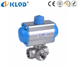 3 Way Stainless Steel Ss316 Pneumatic Ball Valve pictures & photos