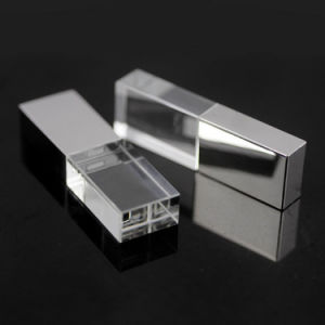 Metal Transparent Pen Drive USB Memory Stick LED Light Crystal