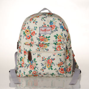 Waterproof Retro Floral Canvas Backpack Bag (23268-1)