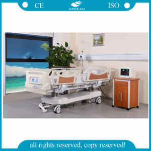 AG-Br002b with ABS Handrails 7 Functions Medical ICU Electric Hospital Bed Price pictures & photos