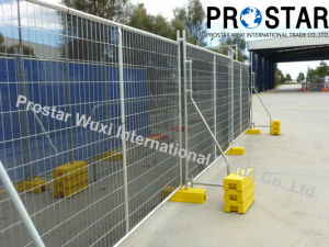 Withstand Australian Weather Condition Temporary Fence with Orange Blowmould Feet pictures & photos