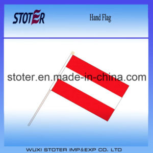 Promotional Printed Hot Sales Austria Hand Flag