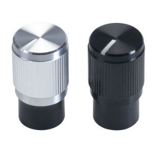 OEM Knurled Anodised Aluminium Shell Knobs for Splined Shaft pictures & photos
