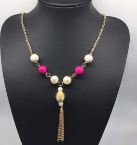 Colorful Beads Pearl Sweater Necklace (XJW13761) pictures & photos