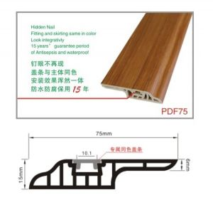 7cm Nail Hidden Water-Proof PVC Skirting Floorng Profiles pictures & photos