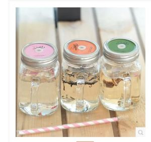 High Quaity 450ml 600ml Plastic Mason Jar with Tinplate and Lid pictures & photos