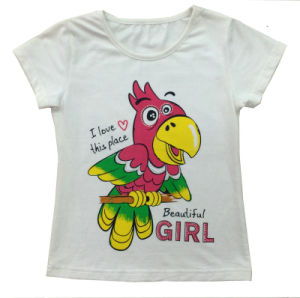Cusotmize Fashion Cute Girl Clothes Kids T Shirt with Bird Sgt-013
